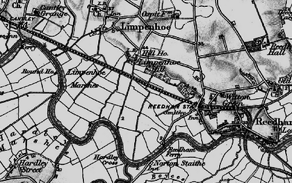 Old map of Limpenhoe Hill in 1898