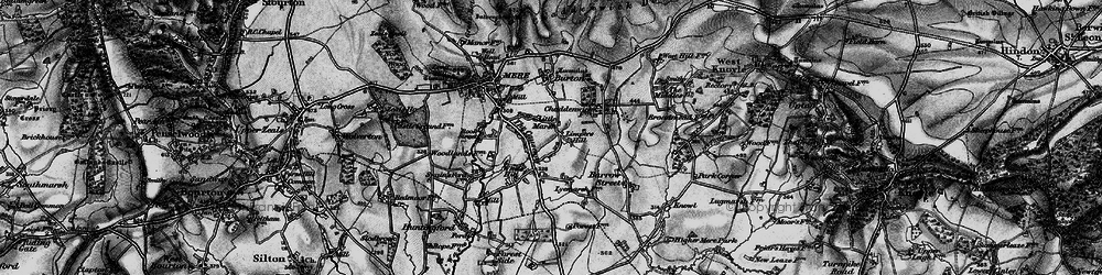 Old map of Limpers Hill in 1898