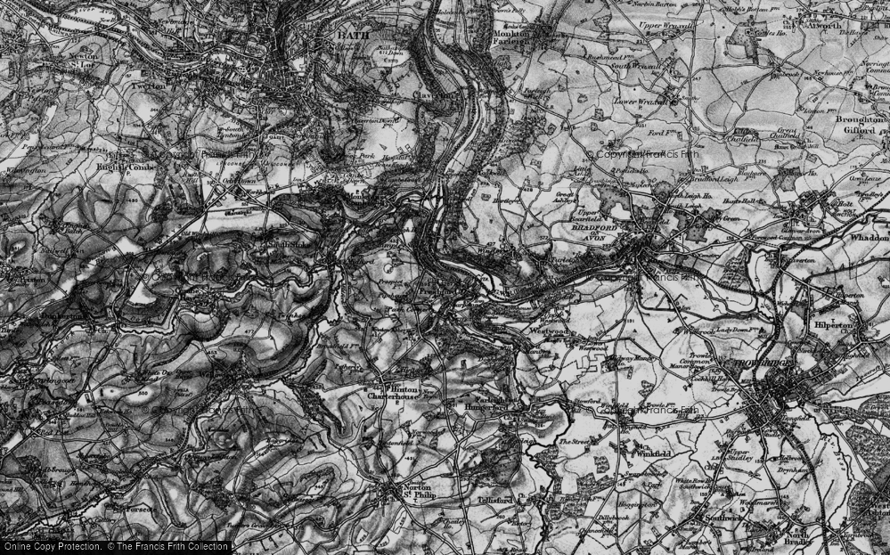 Old Map of Limpley Stoke, 1898 in 1898