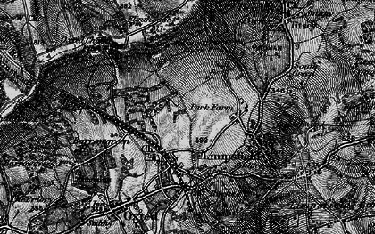 Old map of Limpsfield in 1895