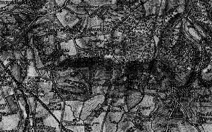 Old map of Limpsfield Chart in 1895