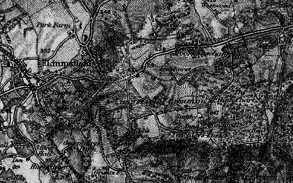 Old map of Limpsfield Common in 1895