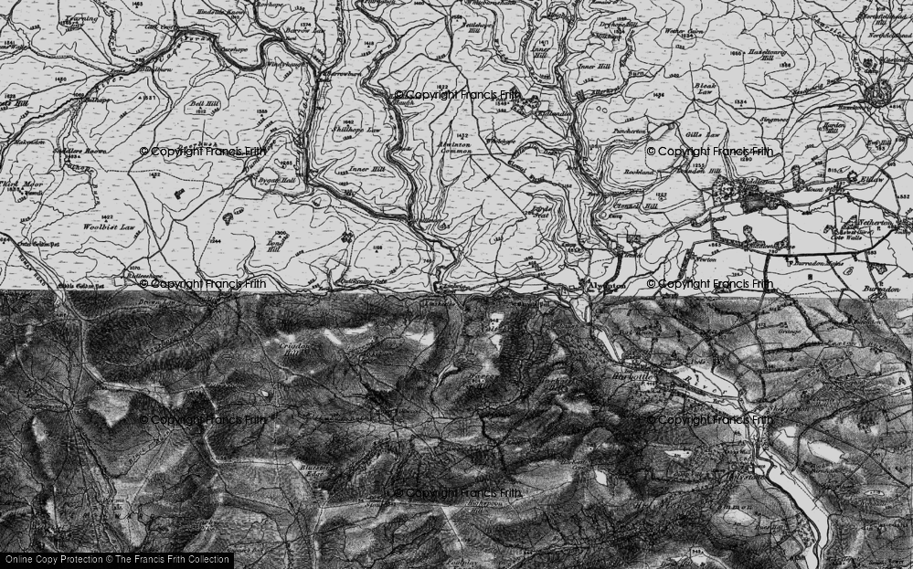 Old Map of Historic Map covering Linshiels in 1897