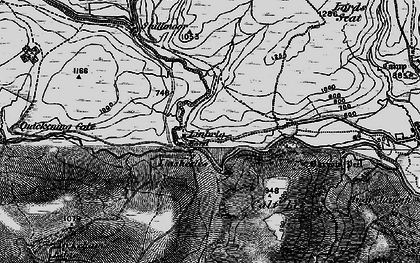 Old map of Linshiels in 1897