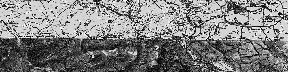 Old map of Witch Crags in 1897