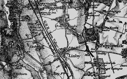 Old map of Aldercar Wood in 1899