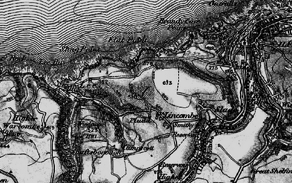 Old map of Lincombe in 1897