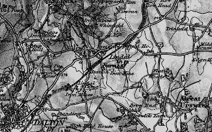 Old map of Lindal Cote Cott in 1897