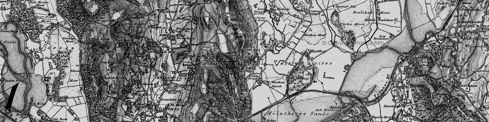 Old map of Lindale in 1898