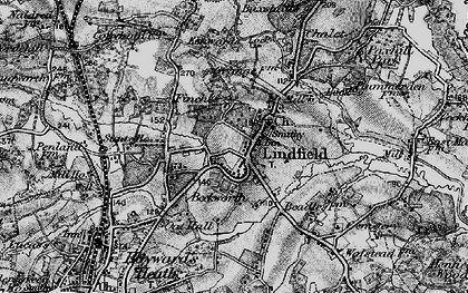 Old map of Lindfield in 1895