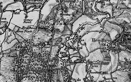 Old map of Lindford in 1895