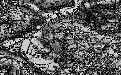 Old map of Lindley in 1896