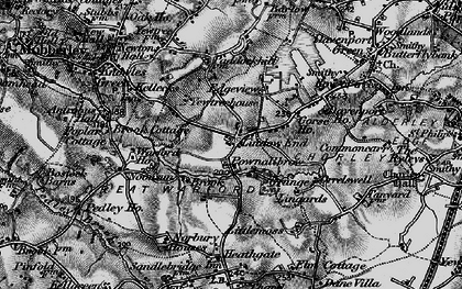 Old map of Lindow End in 1896