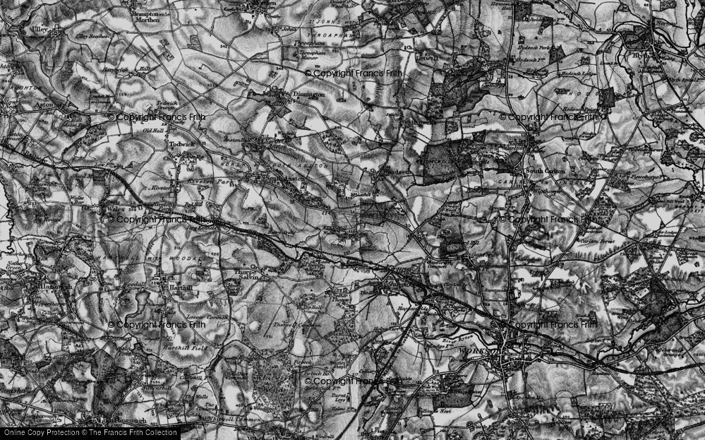 Old Map of Historic Map covering Lindrick Common in 1899