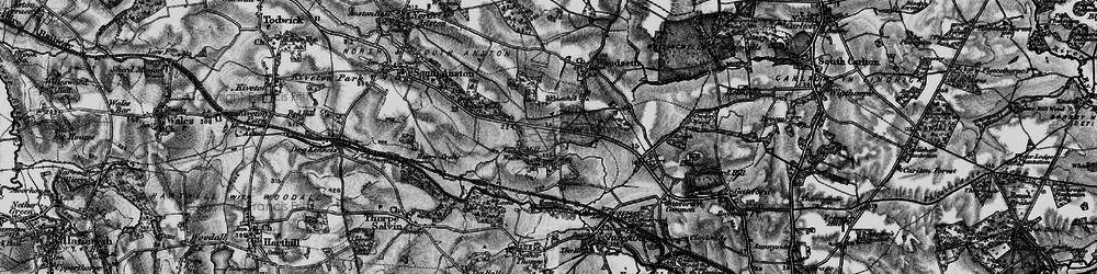Old map of Anston Stones Wood in 1899
