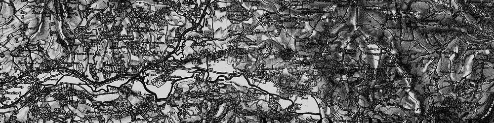 Old map of Lindridge in 1899