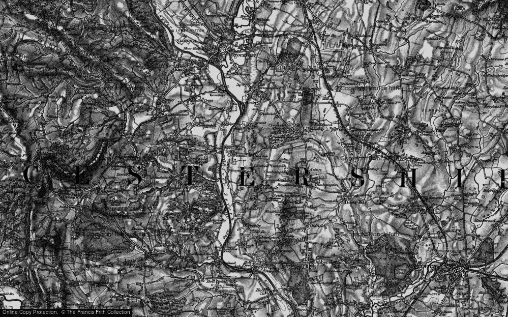 Old Map of Lineholt Common, 1898 in 1898