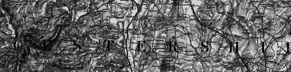Old map of Lineholt Common in 1898