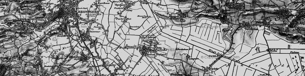 Old map of Liney in 1898