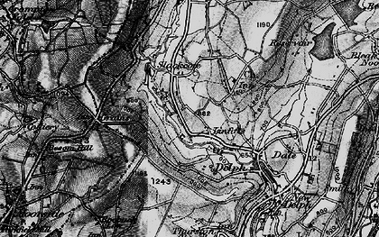 Old map of Linfitts in 1896