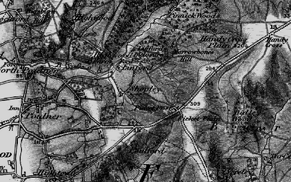 Old map of Linford in 1895