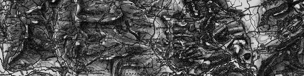 Old map of Lingen in 1899