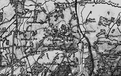 Old map of Lingfield in 1895