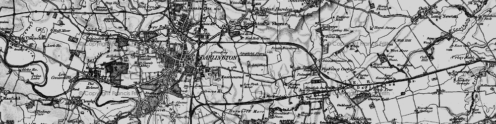 Old map of Lingfield in 1898