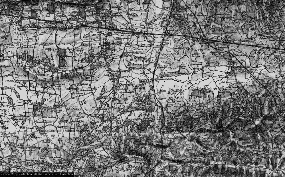 Old Map of Lingfield Common, 1895 in 1895
