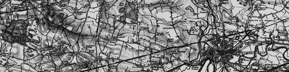 Old map of Lingley Green in 1896