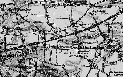 Old map of Lingwood in 1898