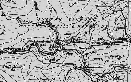 Old map of Alnhammoor in 1897