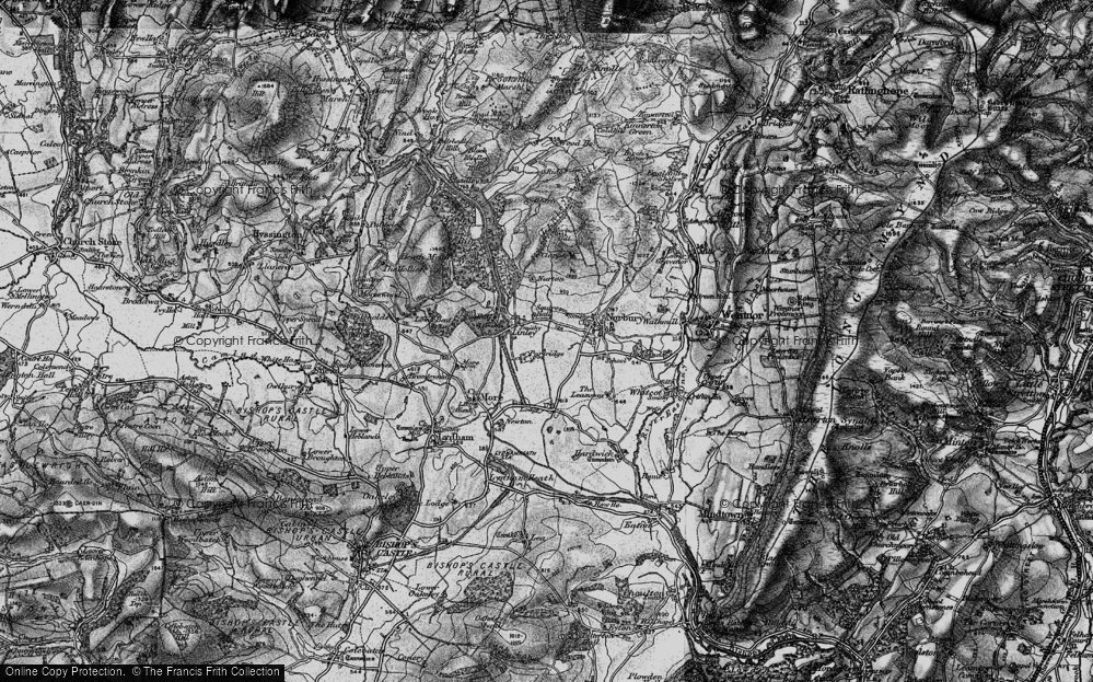 Old Map of Historic Map covering Linley Hill in 1899
