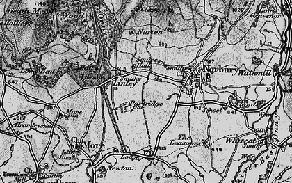 Old map of Linley in 1899