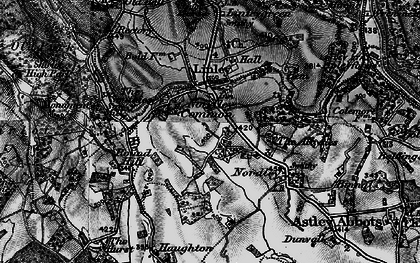 Old map of Linley Brook in 1899