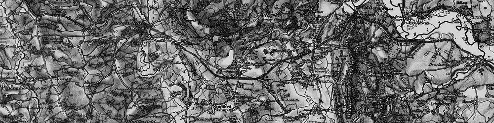 Old map of Linley Green in 1898