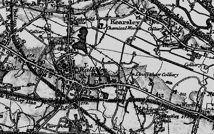 Old map of Linnyshaw in 1896