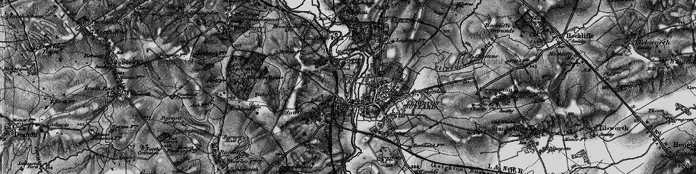 Old map of Linslade in 1896