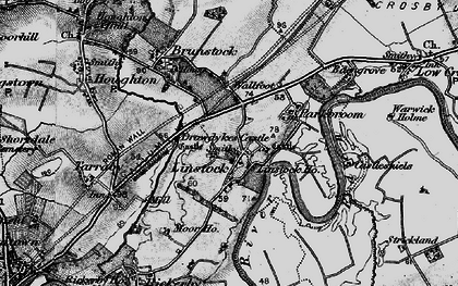Old map of Linstock in 1897
