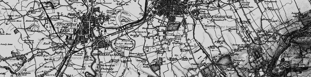 Old map of Linthorpe in 1898