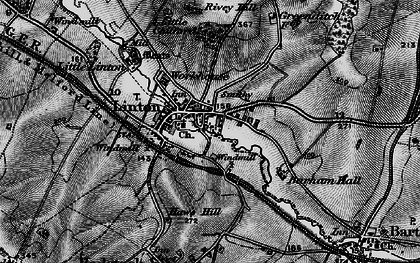 Old map of Barham Hall in 1895
