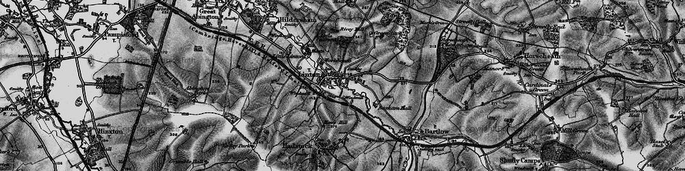 Old map of Linton in 1895
