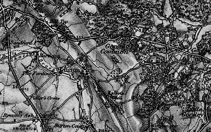 Old map of Linton Wood in 1896