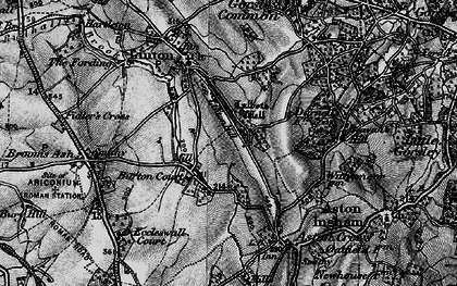 Old map of Linton Hill in 1896