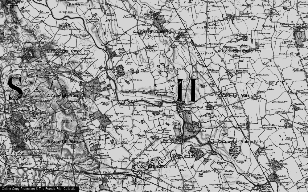 Old Map of Historic Map covering Linton Lock in 1898