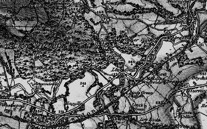 Old map of Lintzford Wood in 1898