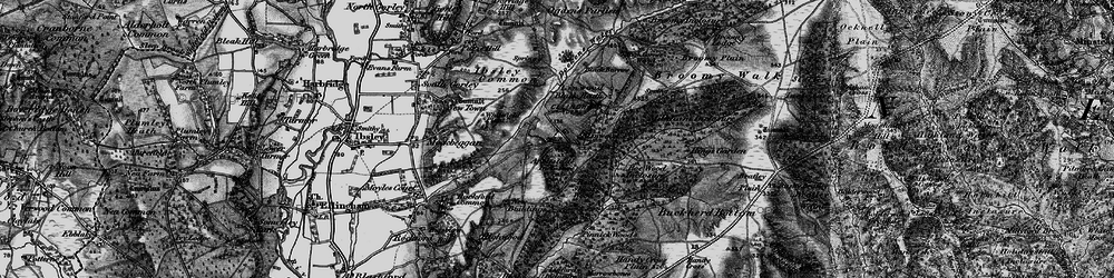 Old map of Linwood in 1895