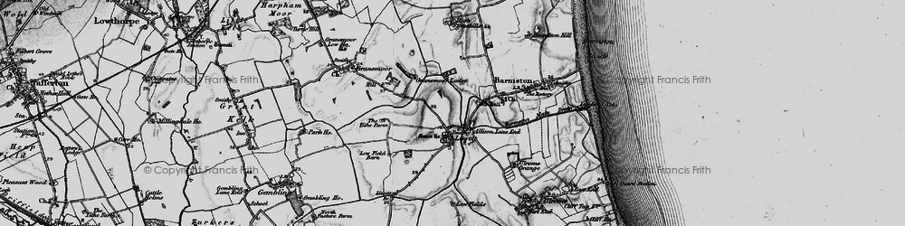 Old map of Allison Lane End in 1897