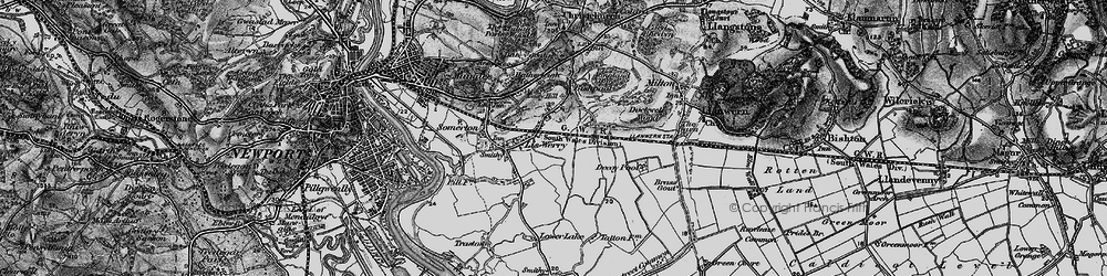 Old map of Liswerry in 1897