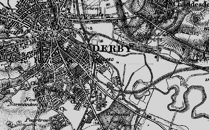 Old map of Litchurch in 1895